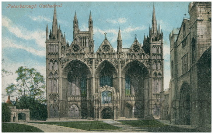 Postcard front: Peterborough Cathedral