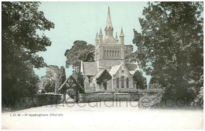 Postcard front: I.O.W. - Whippinham Church