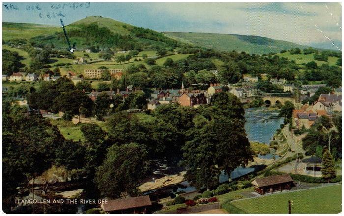 Postcard front: Llangollen and The River Dee
