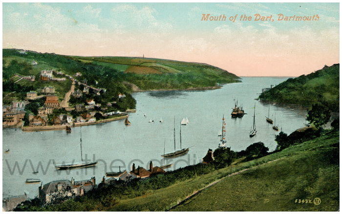 Postcard front: Mouth of the Dart, Dartmouth.