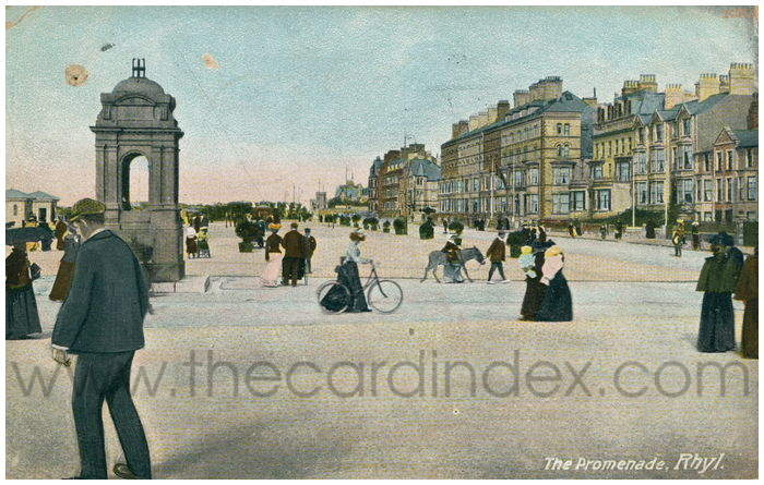 Postcard front: The Promenade, Rhyl