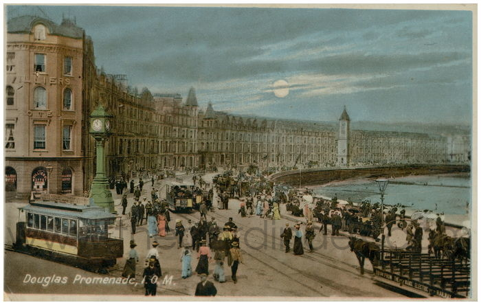 Postcard front: Douglas Promenade, I.O.M.