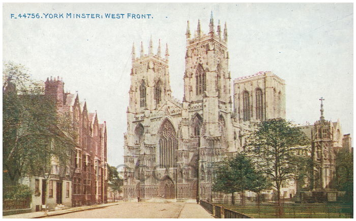 Postcard front: York Minster: West Front.