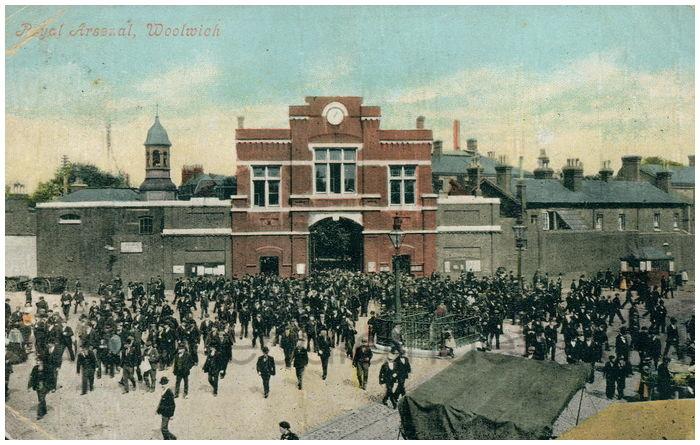 Postcard front: Royal Arsenal, Woolwich.