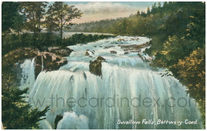 Postcard front: Swallow Falls, Bettws-y-Coed