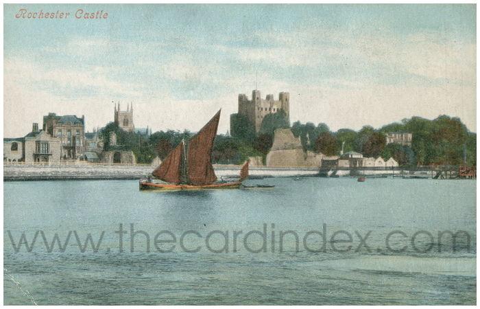 Postcard front: Rochester Castle