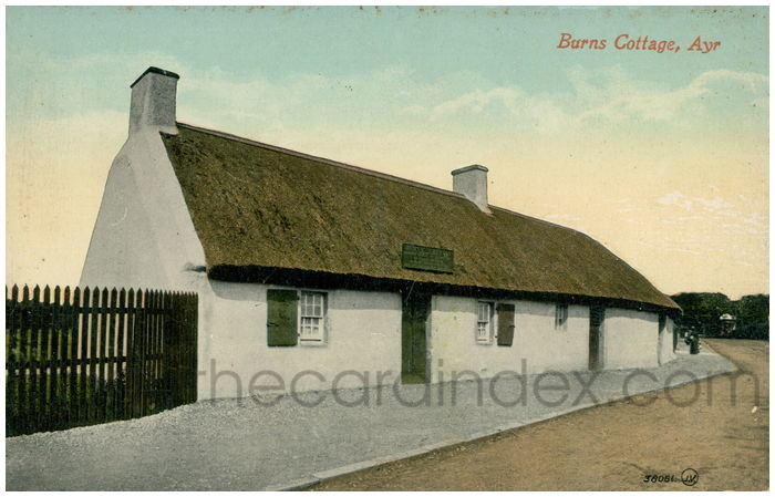 Postcard front: Burns Cottage, Ayr