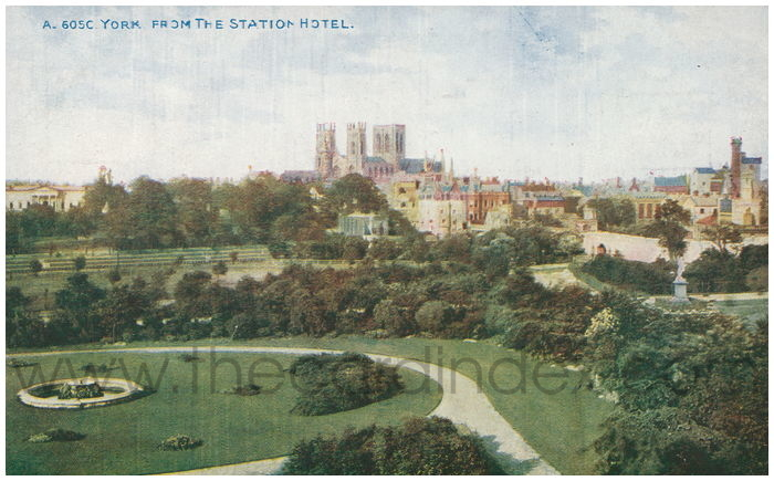 Postcard front: York, From Station Hotel.