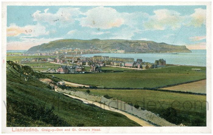 Postcard front: Llandudno. Craig-y-Don and Gt. Orme's Head.