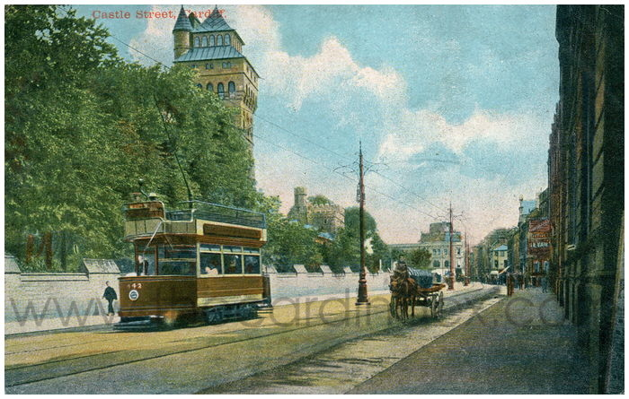 Postcard front: Castle Street, Cardiff.
