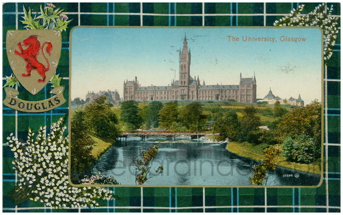 Postcard front: The University, Glasgow
