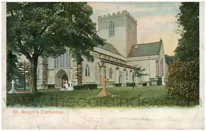 Postcard front: St. Asaph's Cathedral.