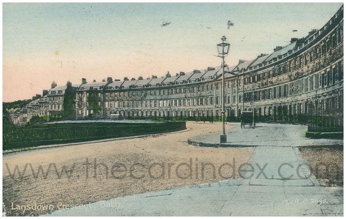 Postcard front: Lansdown Crescent, Bath