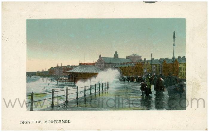 Postcard front: High Tide, Morecambe