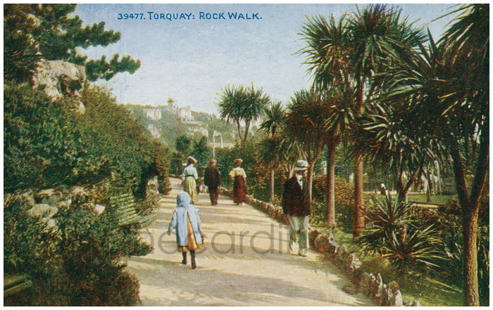 Postcard front: Torquay: Rock Walk