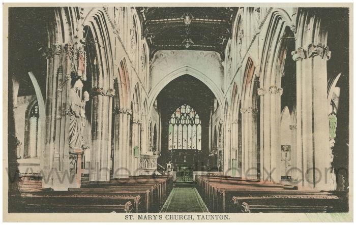 Postcard front: St. Mary's Church, Taunton