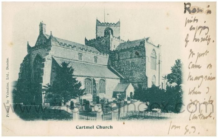 Postcard front: Cartmel Church