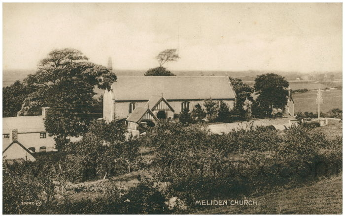 Postcard front: Meliden Church