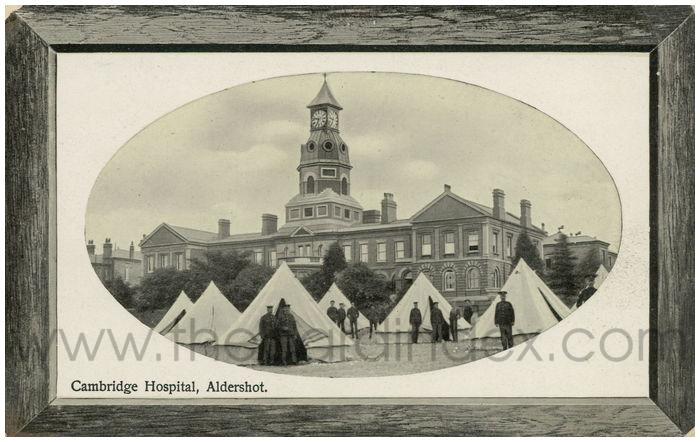 Postcard front: Cambridge Hospital, Aldershot