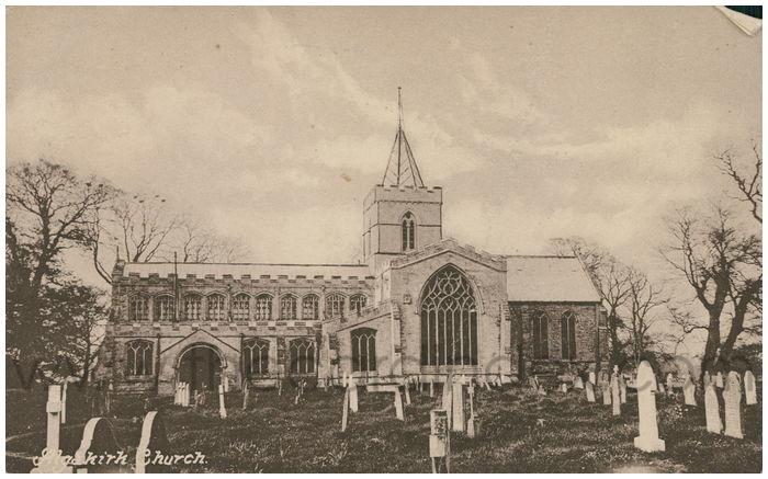 Postcard front: Algakirk Church