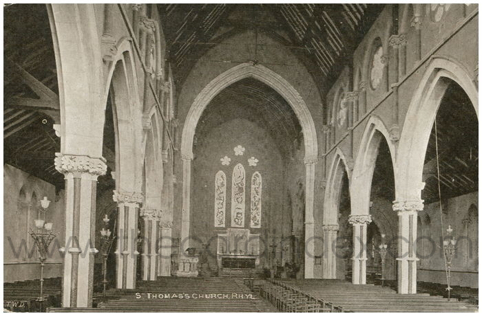 Postcard front: St Thomas's Church, Rhyl