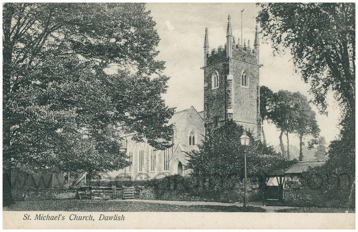 Postcard front: St. Michael's Church, Dawlish