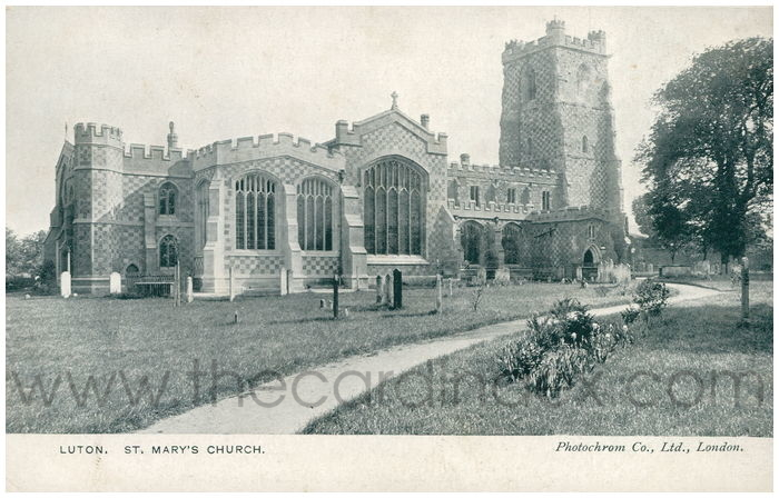Postcard front: Luton. St. Mary's Church