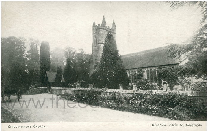 Postcard front: Chiddingstone Church.