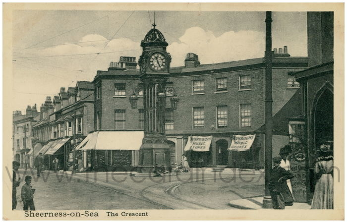 Postcard front: Sheerness-on-Sea The Crescent