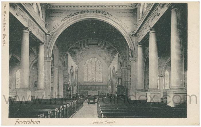 Postcard front: Faversham Parish Church