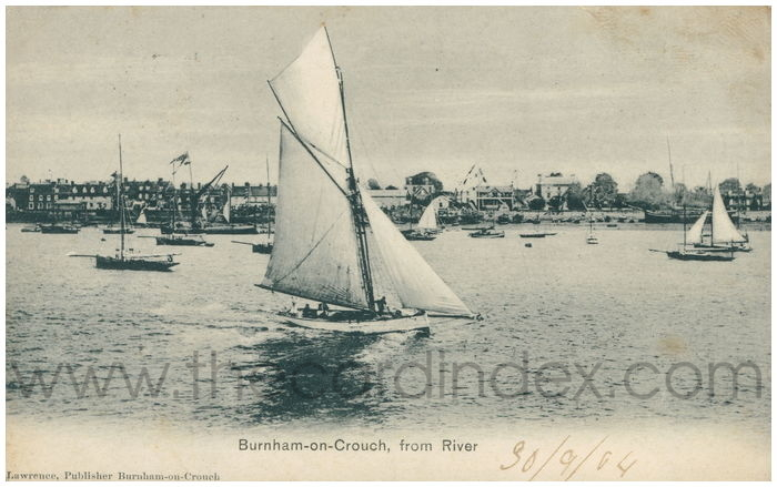 Postcard front: Burnham-on-Crouch, from River