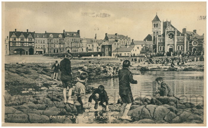 Postcard front: On the Seashore at Portstewart