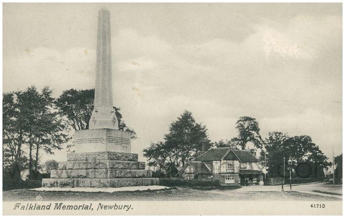 Postcard front: Falkland Memorial, Newbury