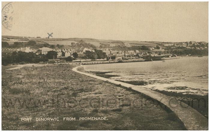 Postcard front: Port Dinorwic from Promenade.