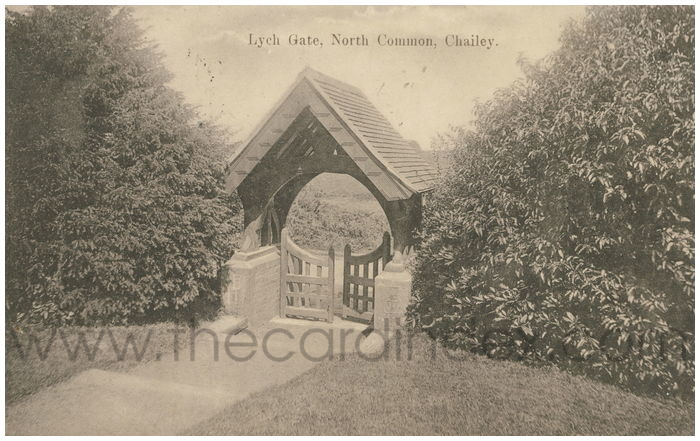 Postcard front: Lynch Gate, North Common, Chailey