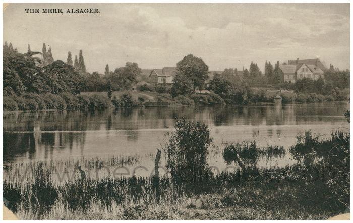 Postcard front: The Mere, Alsager