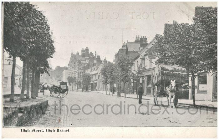 Postcard front: High Street, High Barnet