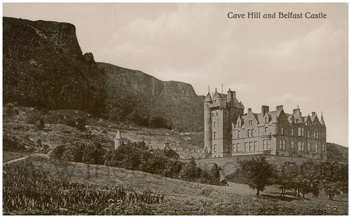 Postcard front: Cave Hill and Belfast Castle