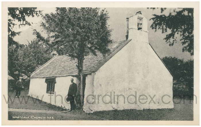 Postcard front: Wastdale Church