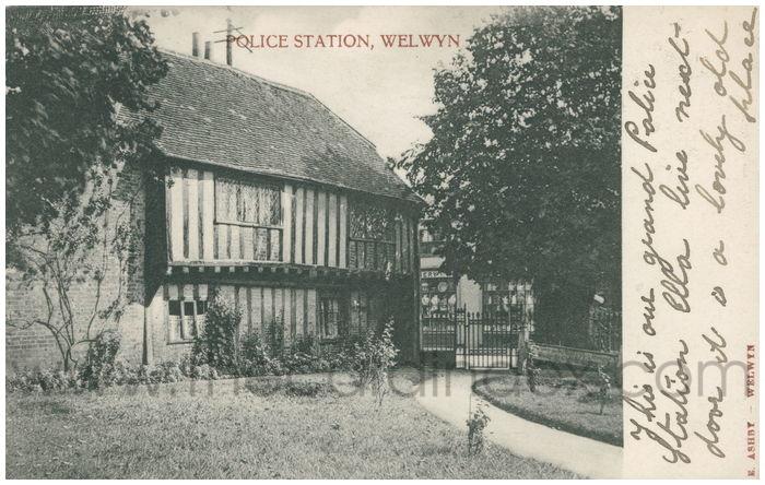 Postcard front: Police Station, Welwyn