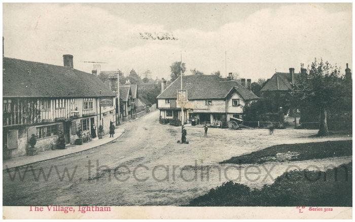 Postcard front: The Village, Ightham
