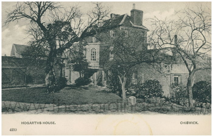 Postcard front: Hogarths House. Chiswick.