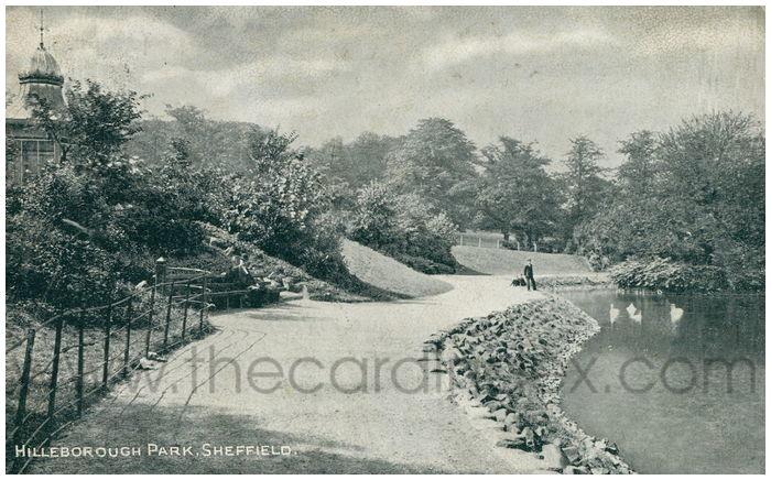 Postcard front: Hilleborough Park, Sheffield.