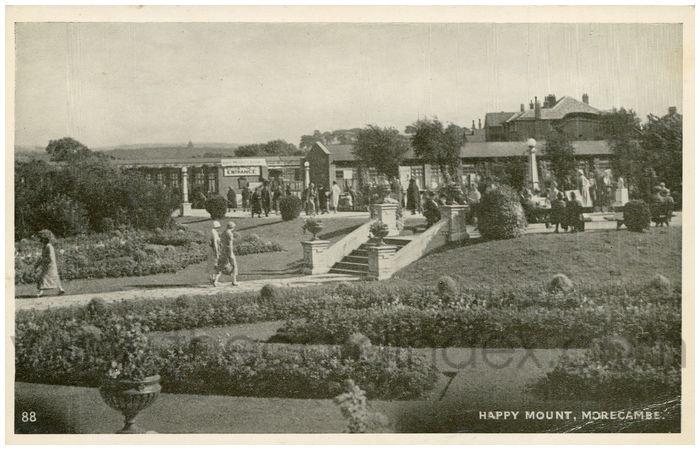 Postcard front: Happy Mount, Morecambe.