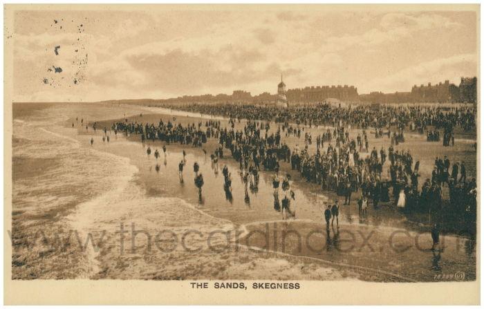 Postcard front: The Sands, Skegness