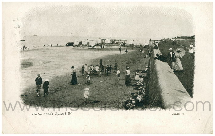 Postcard front: On the Sands, Ryde, I.W.