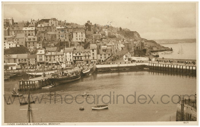 Postcard front: Inner Harbour and Overgang, Brixham