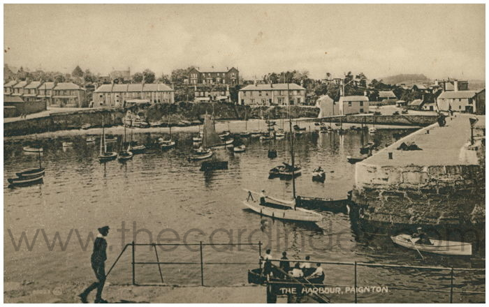 Postcard front: The Harbour, Paignton.