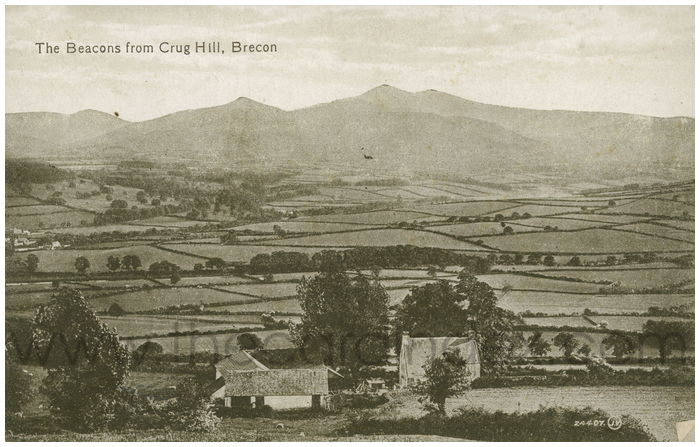 Postcard front: The Beacons from Crug Hill, Brecon