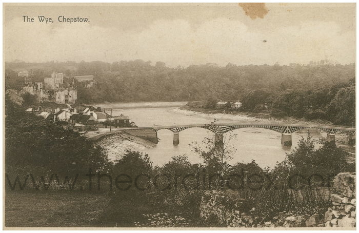 Postcard front: The Wye, Chepstow